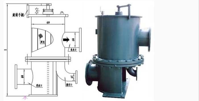 电动滤水器的结构图说明及安装介绍